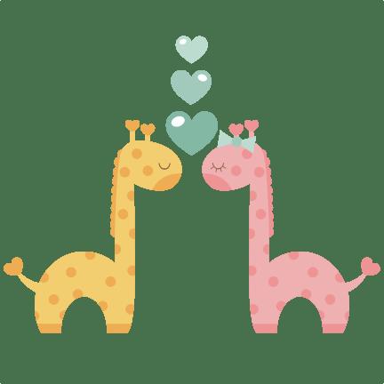 Download Giraffes in Love SVG scrapbook cut file cute clipart files ...