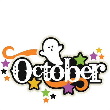 october title svg scrapbook cut