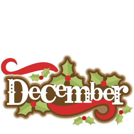 december title svg scrapbook cut