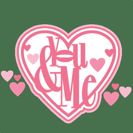 Download You & Me Title SVG scrapbook cut file cute clipart files ...
