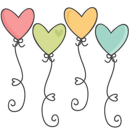 heart balloons svg scrapbook cut
