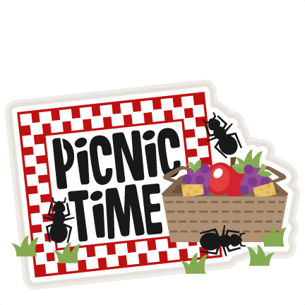 picnic time title svg scrapbook