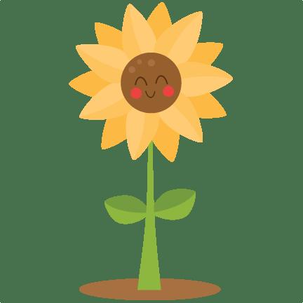 cute sunflower svg scrapbook cut