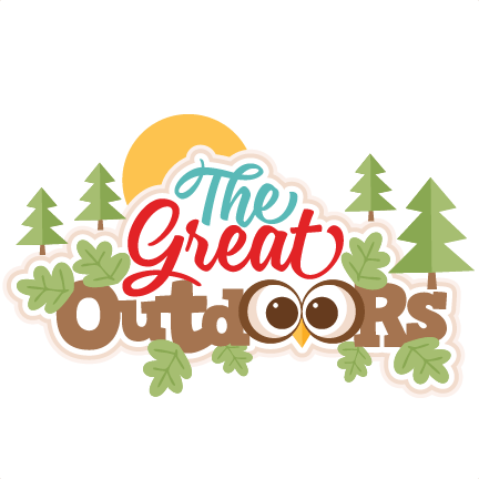 great outdoors title svg scrapbook