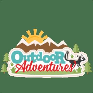 outdoor adventures title svg scrapbook