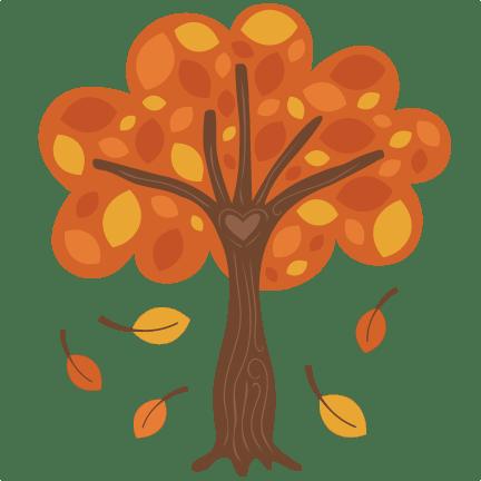 autumn tree svg scrapbook cut file