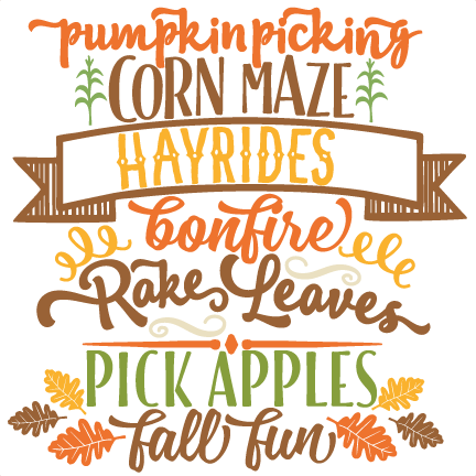 fall fun word art svg scrapbook