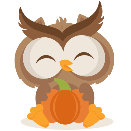 Fall Owl SVG Scrapbook Cut File Cute Clipart Files For