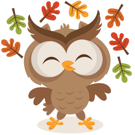 fall owl svg scrapbook cut file