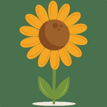 sunflower svg scrapbook cut file