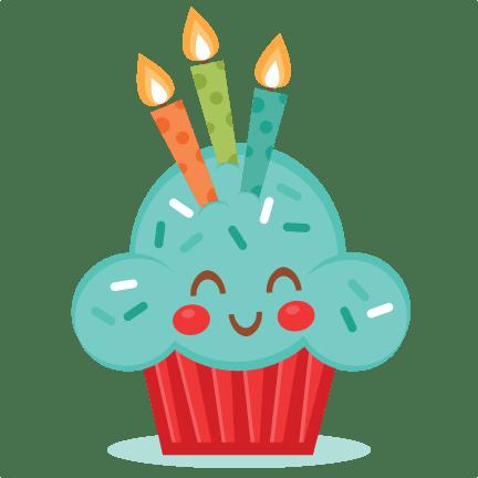 cute birthday cupcake svg scrapbook