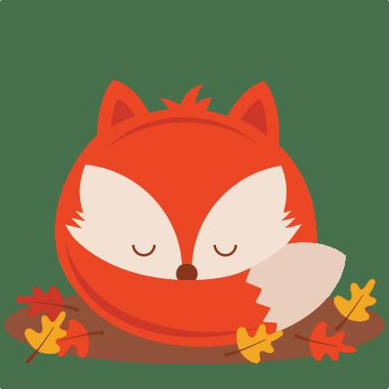 sleeping fall fox svg scrapbook