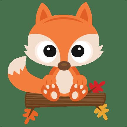 fall fox svg scrapbook cut file