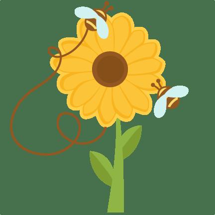 bees sunflowers svg cuts scrapbook