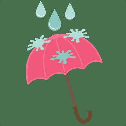 rainy day umbrella svg