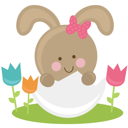 Bunny In Eggs SVG Files Easter Svg File Bunny Svg File