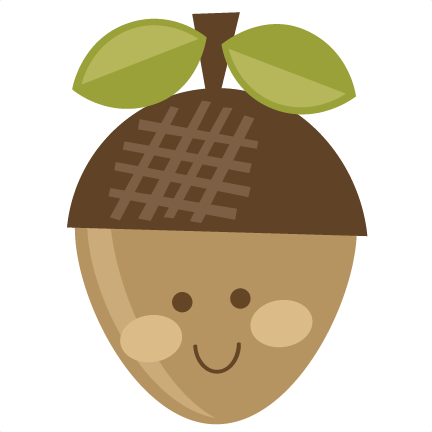 cute acorn svg cut file scrapbooking