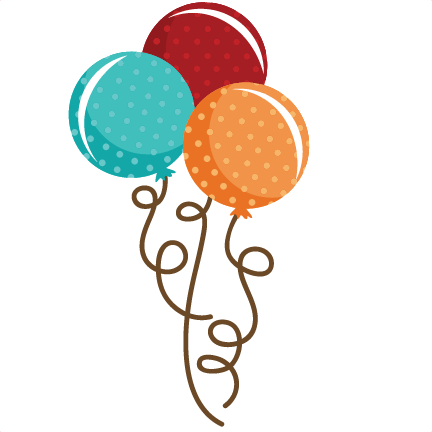 polka dot balloon bouquet svg file