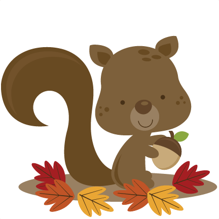 fall squirrel svg file scrapbooking