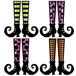 witch shoes svg cut files scrapbooking