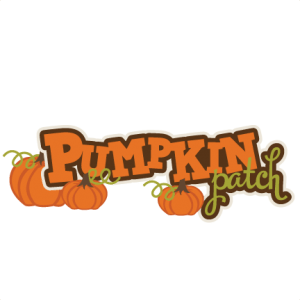 pumpkin patch svg scrapbook title