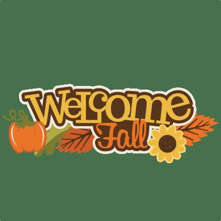 fall svg scrapbook title
