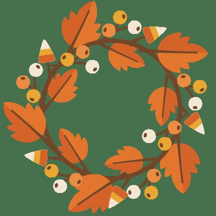 fall wreath svg cutting file
