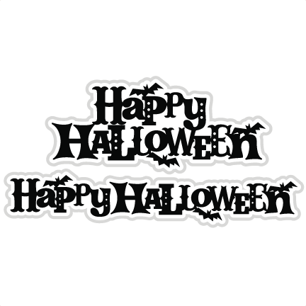 Happy Halloween SVG scrapbook titles cutting files