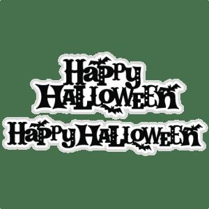 Happy Halloween SVG scrapbook titles cutting files