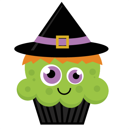 witch cupcake svg cut file halloween