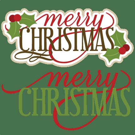 merry christmas svg scrapbook titles