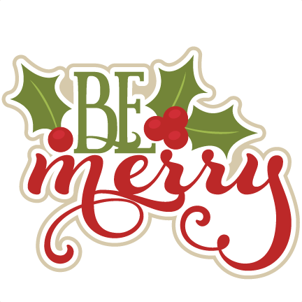 merry svg scrapbook title