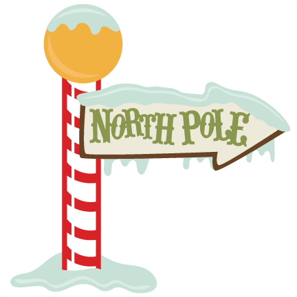 North Pole Sign SVG cutting file christmas svg files
