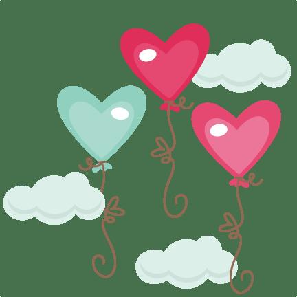 Heart Balloons SVG Cutting Files Heart Balloons Svg Cuts