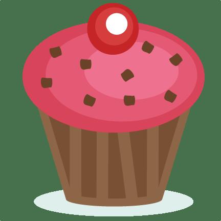 pink cupcake svg cutting file