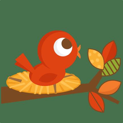 fall bird svg cutting file