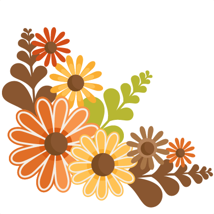 fall flowers svg cutting files
