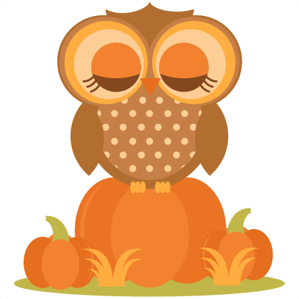owl in pumpkins svg cutting file