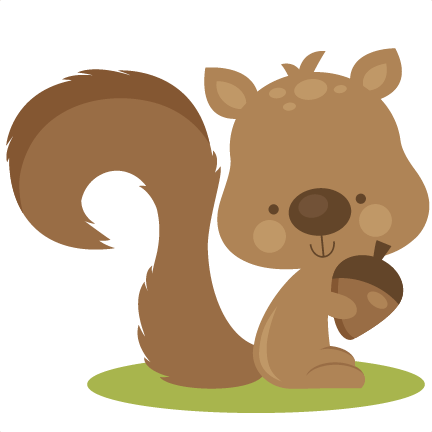 fall squirrel svg cutting files