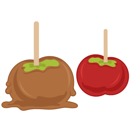 candied apples svg cutting files