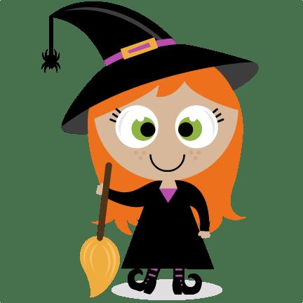 cute witch svg scrapbook title