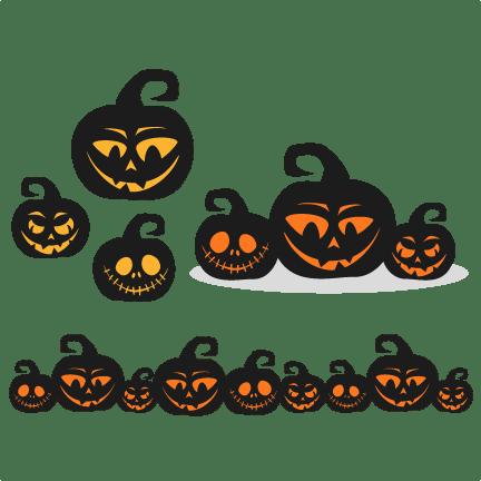 Download Spooky Pumpkins SVG scrapbook title SVG cutting files ...