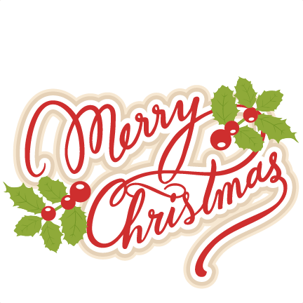 merry christmas svg scrapbook title
