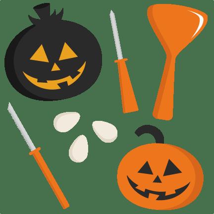 pumpkin carving set svg cutting