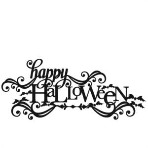 Download Happy Halloween SVG scrapbook title SVG cutting files crow ...