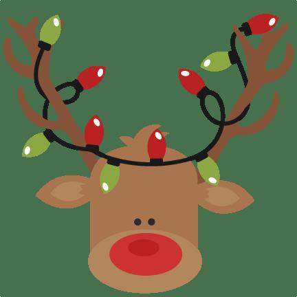 reindeer with christmas lights