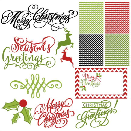 Download Holiday Card Set svg scrapbook clip art christmas cut outs ...