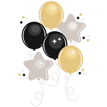 year's eve balloons svg cutting