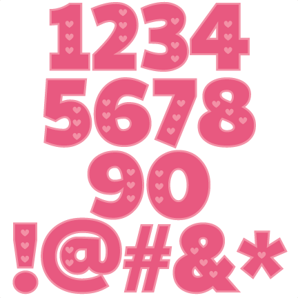 Download Valentine Numbers scrapbook cuts SVG cutting files doodle ...