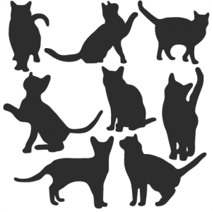 Download Cat Silhouette Set SVG scrapbook title cat svg cut files ...